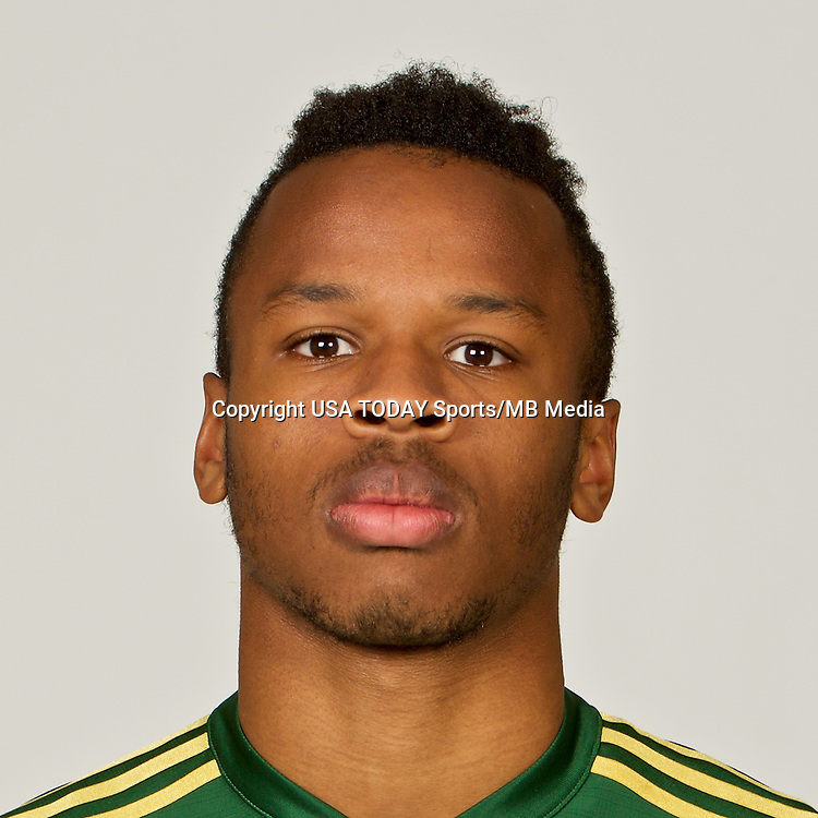 Feb 25, 2017; USA; Portland Timbers player Jeremy Ebobisse poses for a photo. Mandatory Credit: USA TODAY Sports