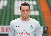 German Soccer Bundesliga 2015/16 - Photocall of Werder Bremen on 10 July 2015 in Bremen, Germany: goalie Raphael Wolf