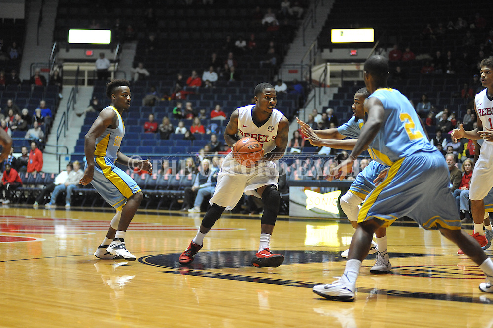 """Ole Miss guard Jarvis Summers (32) vs. Southern at the C.M. """"Tad"""" Smith Coliseum in Oxford, Miss. on Thursday, November 20, 2014. (AP Photo/Oxford Eagle, Bruce Newman)"""