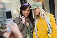 Teenagers Taking Photo with Camera Phone