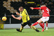 Dan Ward of Middlesbrough (35) takes a shot at goal during the EFL Trophy group stage match between Burton Albion and U21 Middlesbrough at the Pirelli Stadium, Burton upon Trent, England on 7 November 2018.