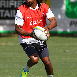 DURBAN, SOUTH AFRICA, 22 January 2016 - Odwa Ndungane during The Cell C Sharks Pre Season training for the 2016 Super Rugby Season at Growthpoint Kings Park in Durban, South Africa. (Photo by Steve Haag)<br /> images for social media must have consent from Steve Haag