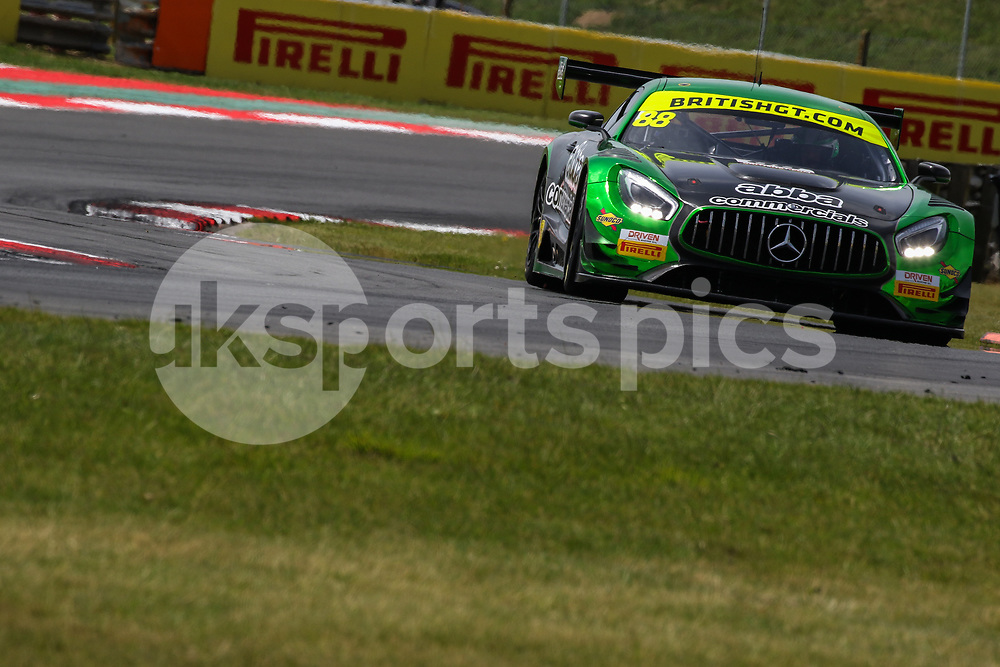 Team Abba with Rollcentre Racing Mercedes AMG GT3 with drivers Martin Short and Richard Neary during the British GT And BRDC British F3 Championships at the Snetterton Circuit, Norwich, England on 28 May 2017. Photo by Jurek Biegus.