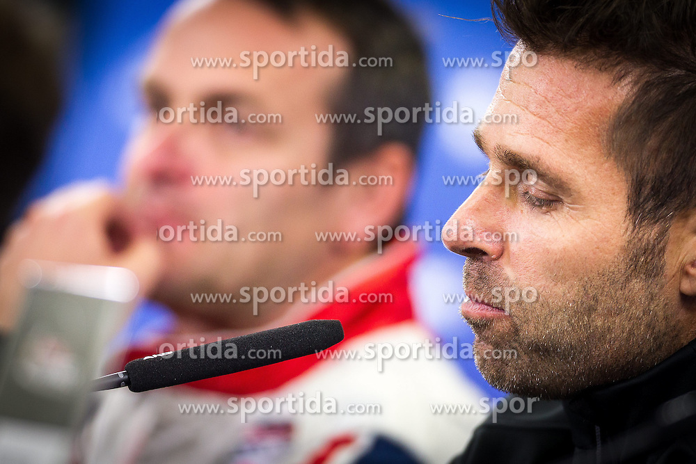 25.10.2014, Red Bull Ring, Spielberg, AUT, Red Bull Air Race, im Bild Pressekonferenz, Hannes Arch, (AUT) // during the Red Bull Air Race Championships 2014 at the Red Bull Ring in Spielberg, Austria, 2014/10/25, EXPA Pictures © 2014, PhotoCredit: EXPA/ M.Kuhnke