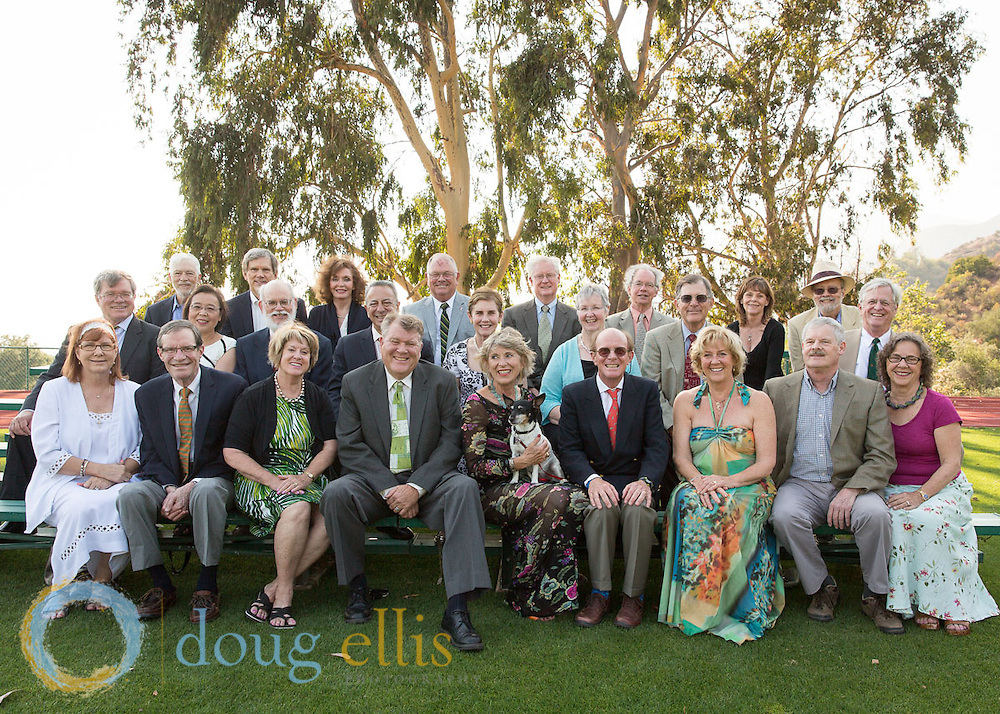 Group portraits of twelve Thacher School graduation classes ranging from 1960 to 2010.