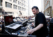 """François K plays during the Paradise Garage Party """"Larry Levan Day"""" event on King Street in New York City, New York on May 11, 2014."""