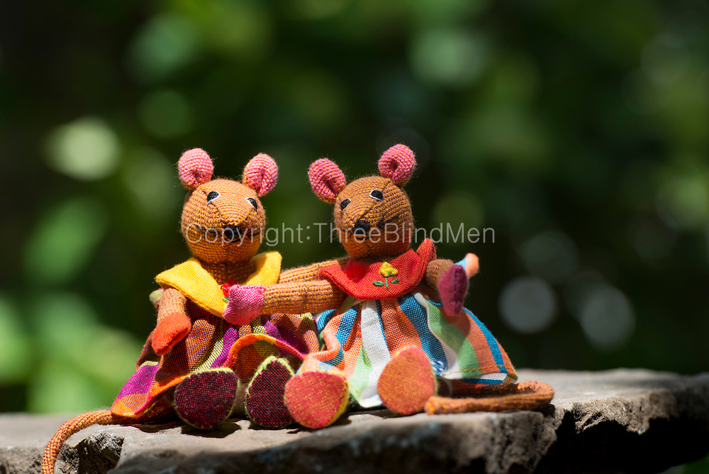 Barefoot soft toys. Sitting Mice.