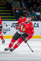 KELOWNA, CANADA - MAY 1: Paul Bittner #7 of Portland Winterhawks skates against the Kelowna Rockets during game 5 of the Western Conference Final on May 1, 2015 at Prospera Place in Kelowna, British Columbia, Canada.  (Photo by Marissa Baecker/Getty Images)  *** Local Caption *** Paul Bittner;