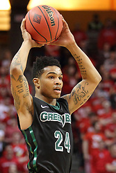 18 March 2015:  Keifer Sykes  during an NIT men's basketball game between the Green Bay Phoenix and the Illinois State Redbirds at Redbird Arena in Normal Illinois