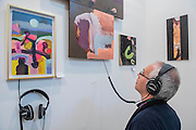 Sound and vision works in a collaboration between Brian Eno and Beezy Bailey in the Perve Gallery -  The 29th edition of London Art Fair takes place in the Business and Design Centre, Islington, from 18-22 January 2017.