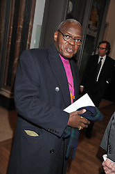 The Archbishop of York DR JOHN SENTAMU at a private view to celebrate the opening of the Royal Academy's exhibition of work by David Hockney held at The Royal Academy, Burlington House, Piccadilly, London on 17th January 2012.