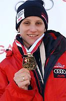 Maya Pedersen gewinnt den Schweizer Frauen Skeleton Meistertitel 2005. © Raphael Nadler/EQ Images