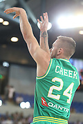 Mitch Creek #24 of Australia during the Australia v Philippines, 1st Round, Group B, Asian Qualifier at the Margaret Court Arena, Melbourne, Australia on 22 February 2018. Picture by Martin Keep.