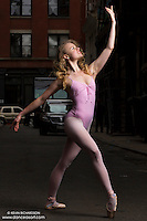 Ballerina Sigrid Glatz in Cortlandt Alley New York City. Dance As Art The New York Photography Project