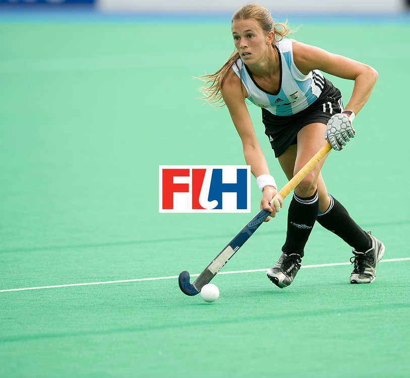 Argentina's Carla Rebecchi during their Women's Champions Trophy Final at Highfields, Beeston, Nottingham, 18th July 2010.