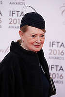 Winner for Best Costume Designer Joan Bergin at the IFTA Film & Drama Awards (The Irish Film & Television Academy) at the Mansion House in Dublin, Ireland, Saturday 9th April 2016. Photographer: Doreen Kennedy