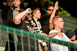 Fans of NS Mura during football match between NS Mura and NK Rudar Velenje in 13th Round of Prva liga Telekom Slovenije 2018/19, on October 20, 2018 in Mestni stadion Fazanerija, Murska Sobota , Slovenia. Photo by Mario Horvat / Sportida