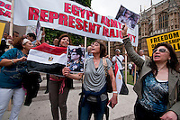 Egyptian Pro-Government Pro Army  protesters in London August 2013