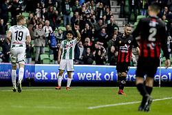 FC GRONINGEN - EXCELSIOR, FC Groningen komt op 3-0 voorsprong door 25. Doan during the Dutch Eredivisie match between FC Groningen and sbv Excelsior at Noordlease stadium on April 29, 2018 in Groningen, The Netherlands