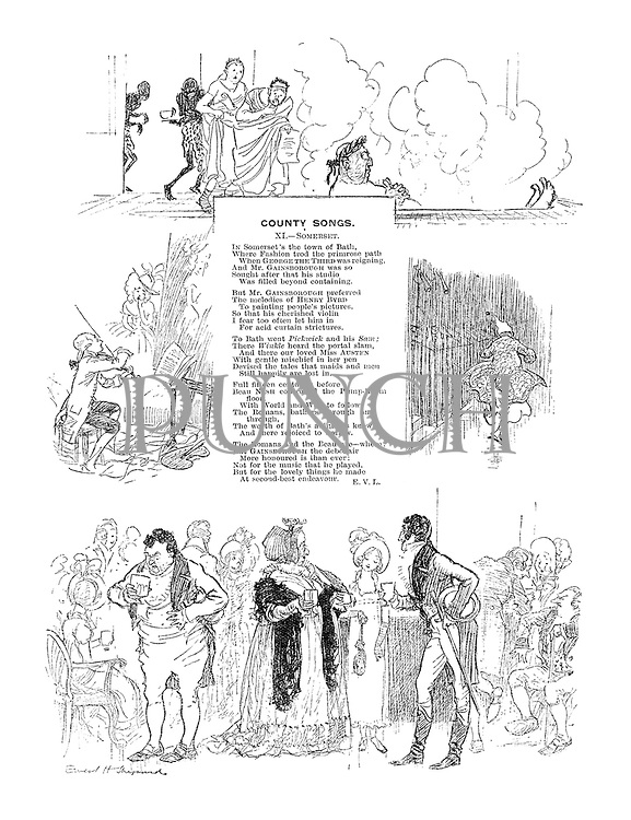 County Songs. XI Somerset. (Illustrated poem)
