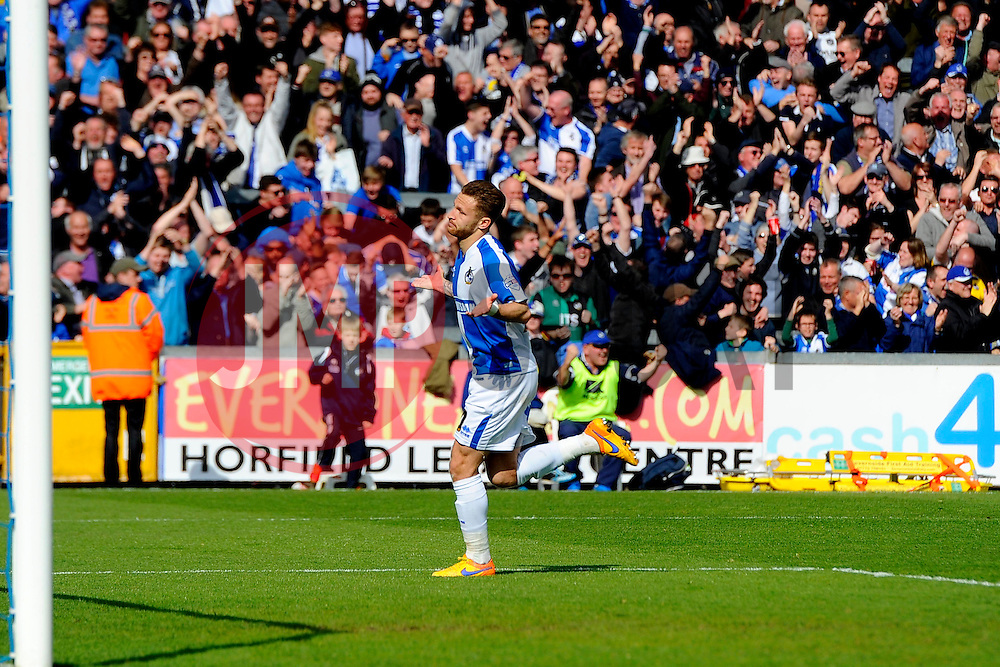 Matt Taylor of Bristol Rovers celebrates his goal  - Mandatory by-line: Joe Meredith/JMP - 23/04/2016 - FOOTBALL - Memorial Stadium - Bristol, England - Bristol Rovers v Exeter City - Sky Bet League Two