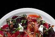 03/01/2012 - Somerville, Mass. - The beet salad at Pizzeria Posto in Somerville's Davis Square on March 1, 2012. (Kelvin Ma/Tufts University)