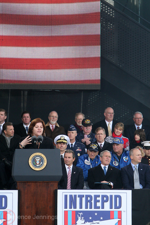 The Honorable Christine Quinn at The 2008 Veterans Day  Ceremonies at the Intrepid Sea, Air, & Space Musem on November 11, 2008 in NYC