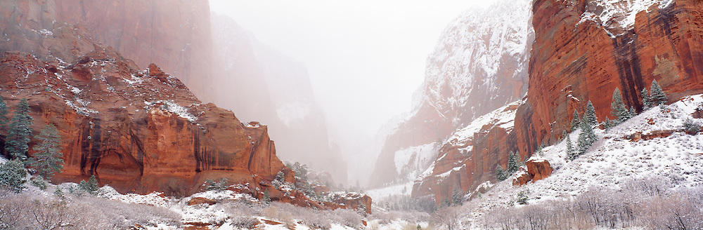 0311-1002 ~ Copyright: George H. H. Huey ~ South Fork of Taylor Creek, winter. Kolob Section, Zion National Park, Utah.