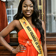 Miss Uganda UK 2019 Caitlin Ochana Uzokwe attend the Mr & Miss Congo 2020,on 29th Febryary 2020 at Old Townhall,Stratford, London, UK.