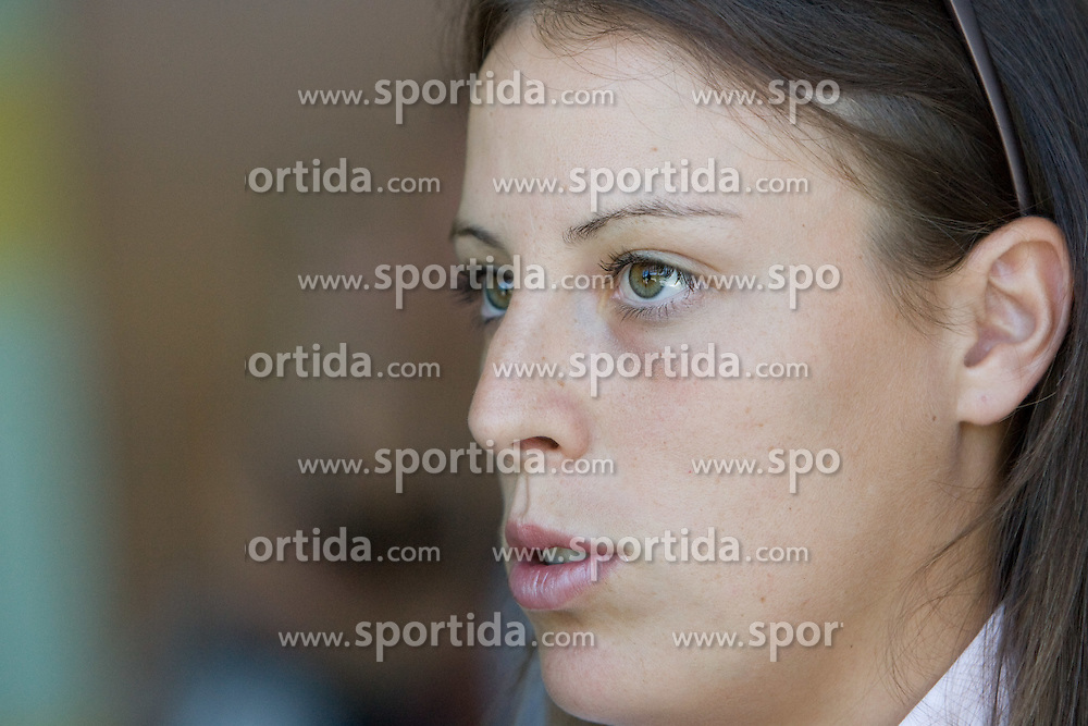 Andreja Klepac at press conference before Banka Koper Slovenia Open 2009 of Sony Ericsson WTA tour in Portoroz,  on July 16, 2009, in Ljubljana, Slovenia. (Photo by Vid Ponikvar / Sportida)