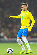 Brazil forward Neymar Jr (10) during the Friendly International match between Brazil and Uruguay at the Emirates Stadium, London, England on 16 November 2018.