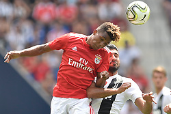 July 28, 2018 - Harrison, New Jersey, U.S - SL Benfica midfielder GEDSON FERNANDES (83) heads the ball during the International Champions Cup match against Juventus at Red Bull Arena. Juventus won 4-2 on penalty kicks. (Credit Image: © Brooks Von Arx via ZUMA Wire)