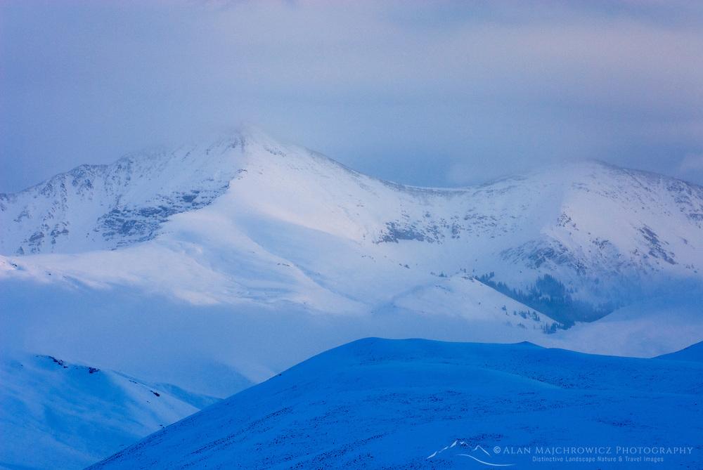 Autumn snowstorm over the Beaverhead Mountains of Montana.
