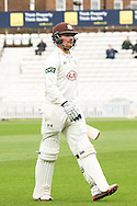 x of Surrey County Cricket Club and y of Essex County Cricket Club during the LV County Championship Div Two match at the Kia Oval, London<br /> Picture by Mark Chappell/Focus Images Ltd +44 77927 63340<br /> 26/04/2015