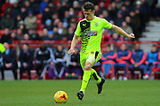 Huddersfield Town midfielder Jonathan Hogg makes a charge for the goal during the Sky Bet Championship match between Nottingham Forest and Huddersfield Town at the City Ground, Nottingham, England on 13 February 2016. Photo by Aaron  Lupton.