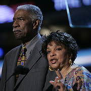 Democratic National Convention.Boston, MA.07/27/2004.Ossie Davis and Ruby Dee..Photo by Khue Bui