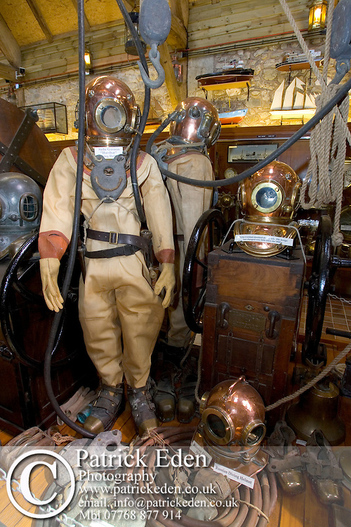 Diving Suit Maritime Museum. Arreton Barns, Isle of Wight Photographs of the Isle of Wight by photographer Patrick Eden photography photograph canvas canvases