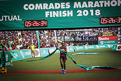 10062018 (Durban) Bongumusa Mthembu won the Comrades Marathon for the first time in 2014 and again in 2017, becoming the second South African to win it twice, after 'Comrades king', Bruce Fordyce.<br /> Picture: Motshwari Mofokeng/ANA