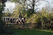 HOLLY BAKER riding waverhead bracken,, Cambridge University Drag hounds meet. Great Gidding, 13 November 2016