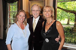 Left to right, VISCOUNTESS GORMANSTON, NICHOLAS PARSONS and his daughter SUZY PARSONS at a party to celebrate the publication on 'Unsuitable' by Suzy Parsons held at St.Stephen's Club, 34 Queen Anne's Gate, London SW1 on 19th June 2008<br />