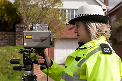 Sussex Traffic police officers operating a speed trap