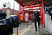 Derby County Manager Frank Lampard arrives at the stadium during the The FA Cup fourth round match between Accrington Stanley and Derby County at the Fraser Eagle Stadium, Accrington, England on 26 January 2019.