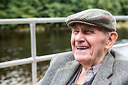 Bill Hosfield, who father worked at mill that used to be on the site of Halton Lune Hydro. Halton, Lancashire.