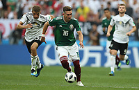 Football - 2018 FIFA World Cup - Group F: Germany vs. Mexico<br /> <br /> Hector Herrera of Mexico controls the ball at Luzhniki Stadium, Moscow.<br /> <br /> COLORSPORT/IAN MACNICOL
