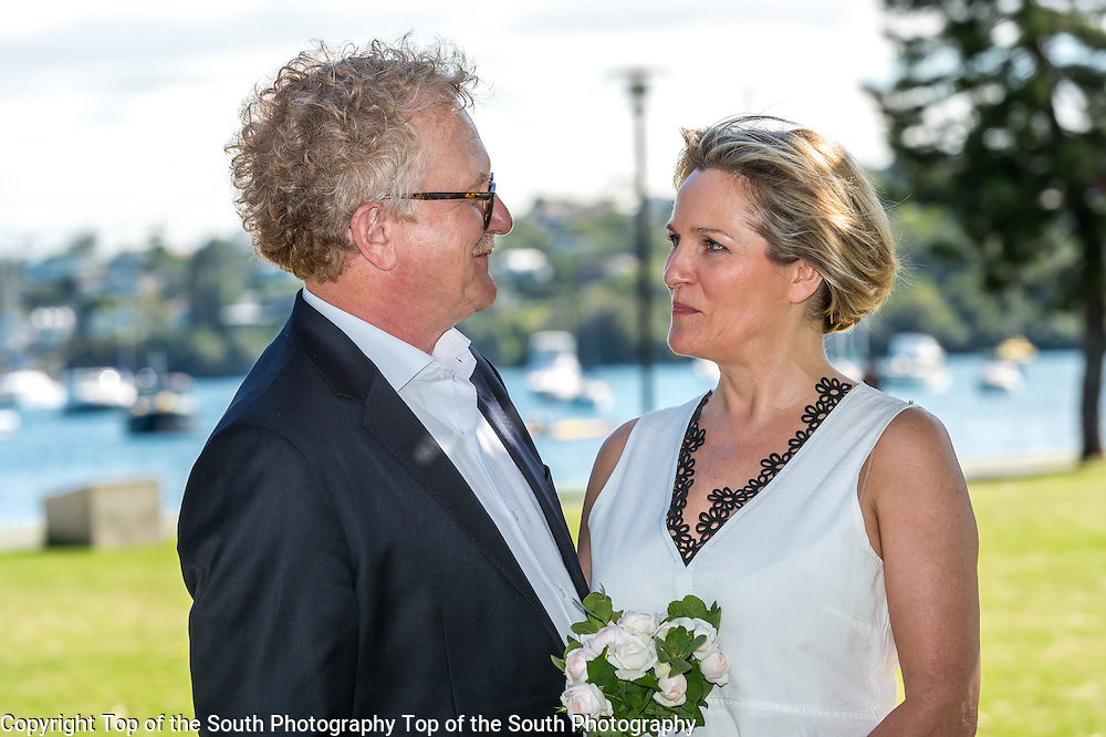 Wonderful day for a lovely couple. Wedding photography taken at Lyne Park, Rose Bay, Sydney NSW Australia 13-2-2017.<br /> Congratulations Uwe and Martina whom appreciated Sydney's warm weather after arriving from the northern hemisphere the day before.