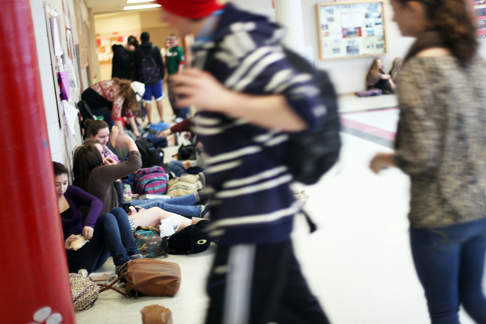 One in ten kids in Bend are homeless. Mountain View High School in Bend on Tuesday, Jan. 31, 2011.