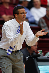 Nov 15, 2011; Stanford CA, USA;  Colorado State Rams head coach Tim Miles on the sidelines against the Stanford Cardinal during the first half of a preseason NIT game at Maples Pavilion. Mandatory Credit: Jason O. Watson-US PRESSWIRE