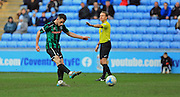 Ian Henderson scores a penalty 1-0 Rochdale during the Sky Bet League 1 match between Coventry City and Rochdale at the Ricoh Arena, Coventry, England on 5 March 2016. Photo by Daniel Youngs.
