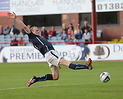 Dundee's David Clarkson inches away from connecting with a cross  - Dundee v Abderdeen, SPFL Premiership at Dens Park<br /> <br />  - &copy; David Young - www.davidyoungphoto.co.uk - email: davidyoungphoto@gmail.com