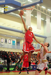 Bristol Academy Flyers' Greg Streete shoots - Photo mandatory by-line: Dougie Allward/JMP - Tel: Mobile: 07966 386802 23/03/2013 - SPORT - Basketball - WISE Basketball Arena - SGS College - Bristol -  Bristol Academy Flyers V Essex Leopards